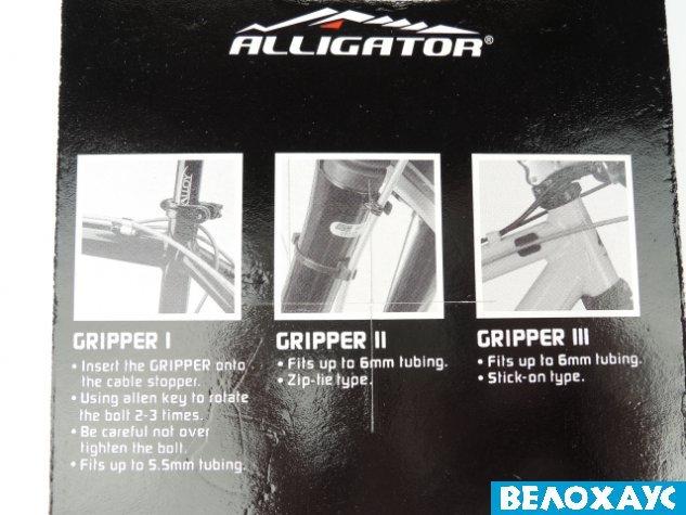 Крепление гидролинии Alligator на раму / вилку Gripper II