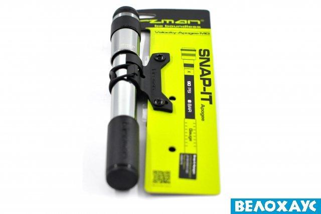 Насос Birzman Velocity Apogee MG MTB, клапан Snap-IT 90 psi