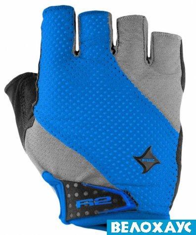 Велосипедные перчатки R2 RIBBON, серо-синий